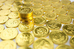 Stack of golden coins  Stock Photography