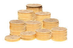 Stack of golden eagle coins Stock Photo