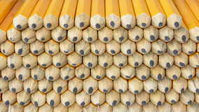 Stack of golf pencils close up Royalty Free Stock Image