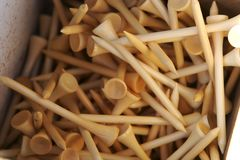 Stack of golf tees Stock Photos