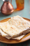 Stack of gozleme on a plate Stock Photos