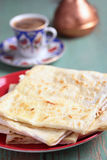 Stack of gozleme on a plate Stock Images