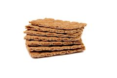 Stack of grain crisp bread. Royalty Free Stock Photos