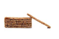 Stack of grain crisp bread. Stock Image