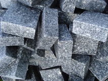 Stack of granite cobbles Stock Photo