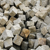 Stack of granite pavement Stock Images