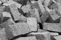 Stack of granite pavement Royalty Free Stock Photo