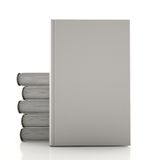 Stack of gray books. On a white background Stock Photo