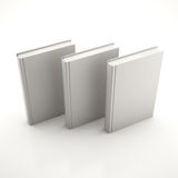 Stack of gray books. On a white background Stock Images