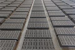 Stack of gray bricks Royalty Free Stock Image