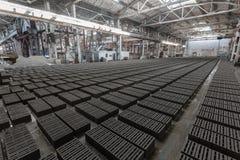 Stack of gray bricks Stock Photography
