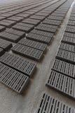 Stack of gray bricks Royalty Free Stock Images