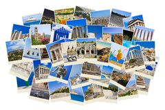 Stack of Greece travel photos Stock Photos