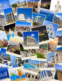 Stack of Greece travel photos Royalty Free Stock Photography