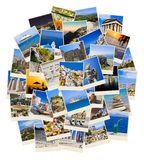 Stack of Greece travel photos Royalty Free Stock Photo