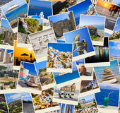 Stack of Greece travel photos Royalty Free Stock Image