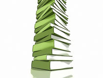 Stack of green books Royalty Free Stock Photos