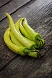 Stack of green chili peppers Royalty Free Stock Photography