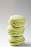 Stack green french macaroons Royalty Free Stock Photography