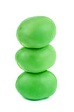 Stack of green pea Royalty Free Stock Photos
