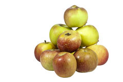 Stack of Green and Red Juicy Apples Stock Photography