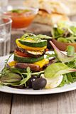 Stack of grilled vegetables Royalty Free Stock Image
