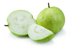 Stack of Guava (tropical fruit) on white background Stock Images