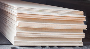 The stack of gypsum board for construction Stock Image