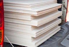The stack of gypsum board for construction Royalty Free Stock Photos