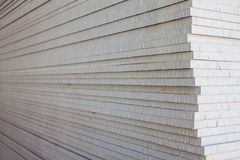 The stack of gypsum. Board preparing for construction royalty free stock photo