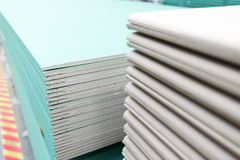 stack of gypsum board preparing for construction Royalty Free Stock Image