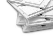 Stack of gypsum board Royalty Free Stock Photography