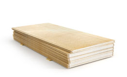 Stack of gypsum boards Royalty Free Stock Photography