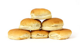 Stack of hamburger buns Stock Image