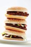 Stack of hamburgers Stock Image