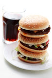Stack of hamburgers Royalty Free Stock Image