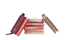 Stack of handmade notebooks. Royalty Free Stock Photo
