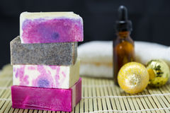 Stack of handmade soap Royalty Free Stock Photography