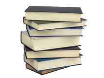 Stack hard cover books isolated Royalty Free Stock Photo