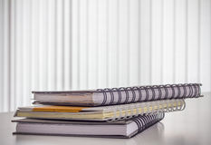Stack of hard cover note book Stock Photography