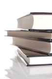 Stack of hard covered books Royalty Free Stock Photos