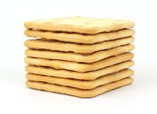 Stack of Hard Crackers Royalty Free Stock Images