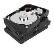 Stack of hard disk Royalty Free Stock Photo