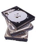 Stack of hard disks Royalty Free Stock Photo