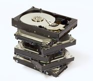 Stack of Hard Drives Stock Images