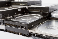Stack of hard drives Royalty Free Stock Photo