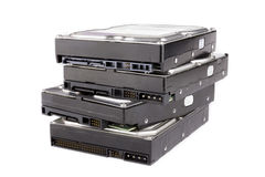 Stack of hard drives Stock Photos