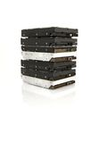 Stack of hard drives Royalty Free Stock Photography