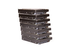 Stack of hard drives Royalty Free Stock Image