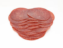 Stack Hard Salami Slices Royalty Free Stock Photos